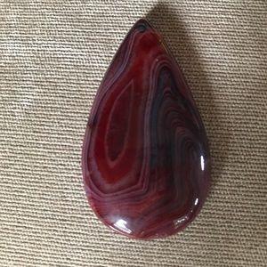 Genuine stone pendant for jewelry making.
